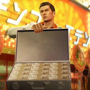 Kiryu's primary side story sees him taking over a real estate firm and trying to take over properties all over Kamurocho, armed with a suitcase full of cash